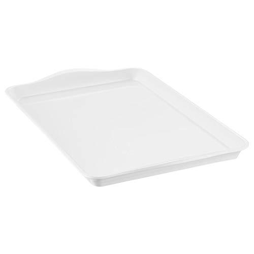 i BKGOO Bandejas Grandes de melamina, tamaño de Bandeja de plástico de Comida rápida Blanco 38.5x24 cm