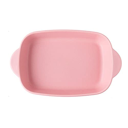 1 Piece Nordic Bakeware Binaural Baked Rice Bowl Baking Sheets Nonstick Oven Nonstick 10 Inches Pink
