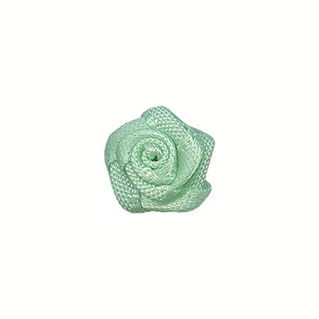 Muka 1000個マルチカラーミニリボンローズ花結婚式のスクラップブッキング DIY クラフト包装の装飾 - ミント
