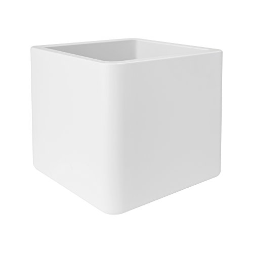 Elho Pure Soft Brick With Wheels Vaso, Bianco, 49 X 49 X 49 Cm