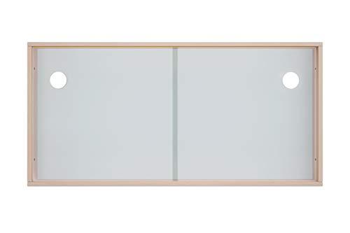 Schiebetüren für IKEA Kallax Regal Acrylglastüren Glasvitrine Glastür Laufschiene mit Holzrahmen für Bücher Deko Sammelstücke (Glasoptik)