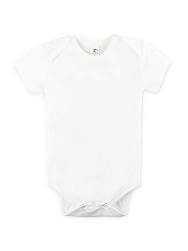 Yellow 6-12M Long Sleeve Colored Organics Unisex Organic Baby Bodysuit