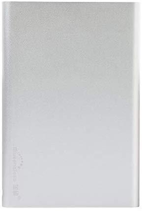 Disco duro externo portátil de 2 TB – Disco duro externo ultra fino USB 3.0 para PC, Mac, portátil y Smart TV (2 TB, plateado)