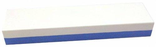 Abziehstein Korund blau/weiß von Zische - FEPA 220/400 (JIS 220/1000) - 5cm Breite + Gratis-Unterlage