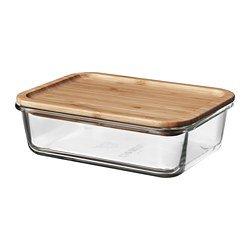 Unbekannt IKEA 365+ Vorratsbehälter Glas Plus Bambus Deckel 1Liter