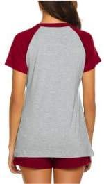 Women/'s Maternity Nursing Pajamas for Hospital Short Raglan Sleeve Basic Nursing Shirt Pregnancy Breastfeeding Sleepwear Set