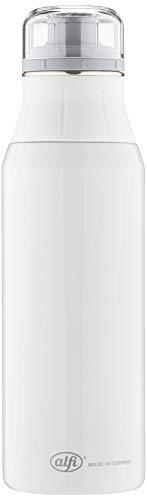 alfi Trinkflasche Edelstahl 900ml - elementBottle Pure weiß - auslaufsicher, spülmaschinenfest, BPA-Free,  5357.128.090