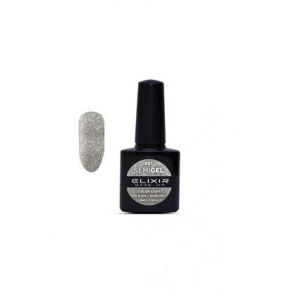 ELIXIR UV nagellak semigel 861 glitter zilver 8 ml
