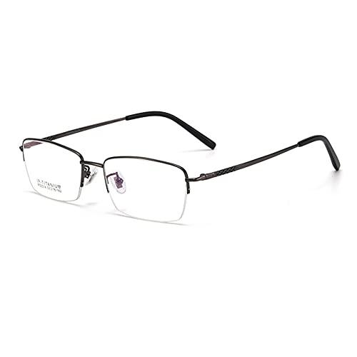 HQMGLASSES Gafas de Lectura multifocales progresivas HD Anti-luz Azul para Hombres, Lente de Resina 1.56 / Lector antifatiga dioptrías +1.0 a +3.0,Gris,+2.5