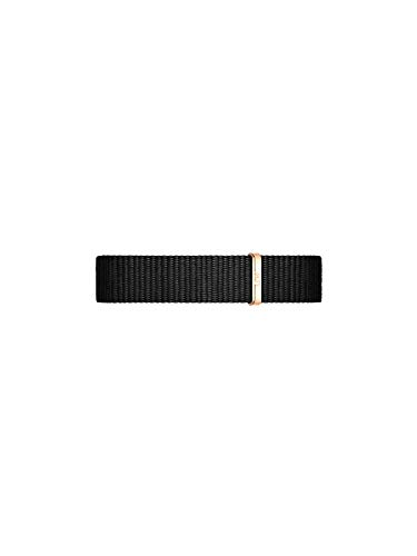 Daniel Wellington Petite Cornwall, Schwarz/Roségold Uhrenarmband, 12mm, NATO, für Damen