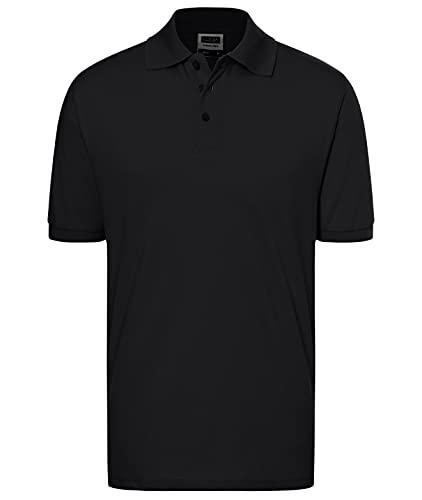 James & Nicholson Herren Classic Polo Poloshirt, Schwarz, L
