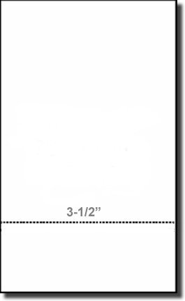 "500 Sheets, Legal Size (8.5"" x 14"") Paris 04173, Legal Size 24# White Bond with 3-1/2"" Perforation"