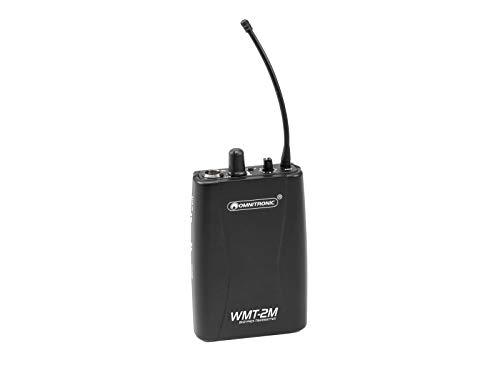 OMNITRONIC WMT-2M UHF-Sender, mono | Mono-Audio-Funkübertragungssystem, 823-832 MHz + 863-865 MHz
