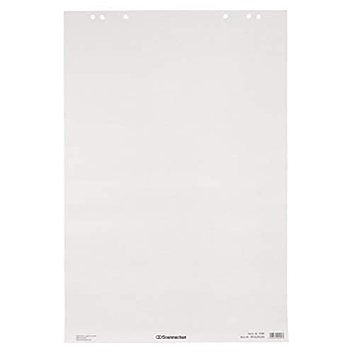 Soennecken Flipchartblock Vorderseite: blanko, elemtarchlorfrei, 80 g/qm, weiß, 20 Bl./Block, 5 St./Pack.