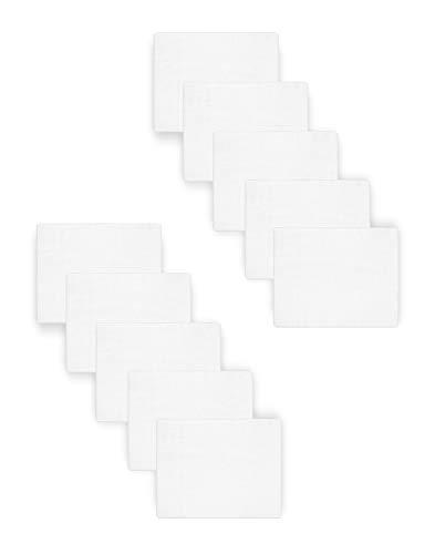 Be Mammy Paquete de 10 Conjuntos de Pañales para Bebés 70x80 cm BESD001 (Blanco (10 Pack), 70x80)