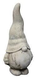 Terracotta Gartendekoration – Tolle Gartenfigur: Wichtel/Zwerg - Dekofigur für Außen - Gartenwichtel/Gartenzwerg - Garten Dekoration/Deko (Klein: 37cm, Schlicht grau/beige)