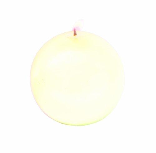 Biedermann Round-Shaped 4-Inch Diameter Ball Candles, Cream, Set of 6