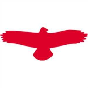 Aufkleber Piktogramm Vogel einzeln grau 7,5 x 19,5cm