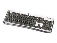 Saitek K80 Compact USB Tastatur silber