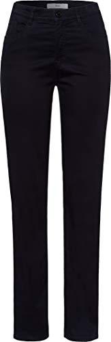 BRAX Damen Style Carola Winter Dream Five-Pocket-Hose in winterlicher Qualität Straight Fit, Blau, 40
