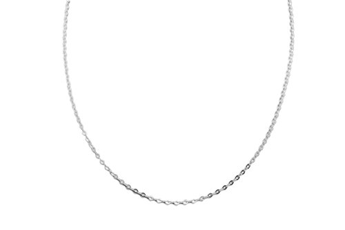 Miore Damen Kabelkette diamantiert 9 Karat (375) Weißgold 1.8mm 45cm Länge