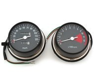 Speedometer & Tachometer Set - Compatible with Honda CB750 CB750K CB750F - 1973-1978 - MPH