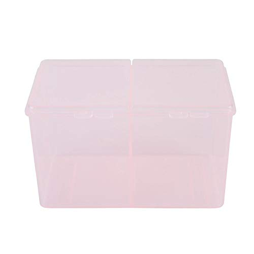 Antilog Katoenen Pads Container, 2 Grids Katoenen Pads Container Nagel Poolse Glitter Poeder Organizer Opbergdoos Manicure Tool