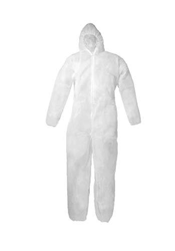 Einweg-Overall mit Kapuze, Universalgröße, weiß, XL