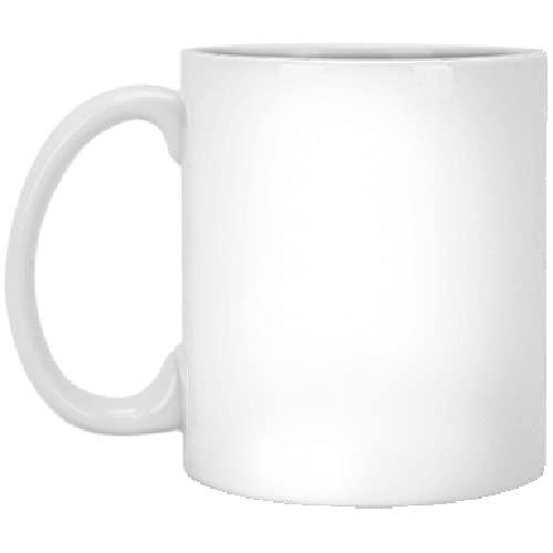 - Taza de café de cerámica blanca, color blanco