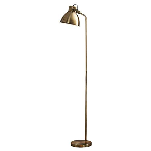 LDDBD Moderne minimalistische mode Nordic staande lamp, studie leeslamp slaapkamer woonkamer creatieve eenvoudige moderne Nordic verticale tafellamp, lampen en lantaarns A +,koper, A