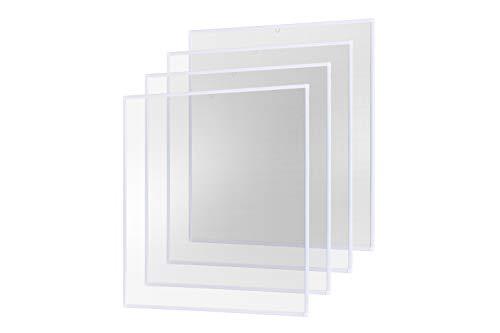 empasa Insektenschutz Fliegengitter Fenster Alurahmen Basic weiß braun anthrazit, 120 x 140 cm 4er SET
