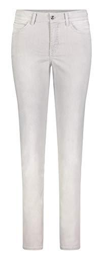 MAC JEANS Damen Melanie Straight Jeans , Grau (Silver Grey Wash D314) , W34/L34