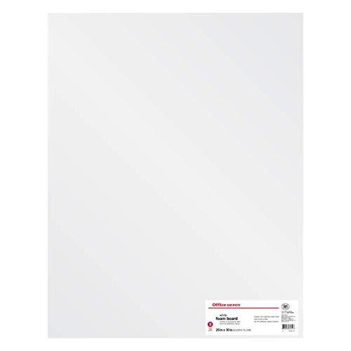 Foam Boards, 20in. x 30in, White, Pack of 3