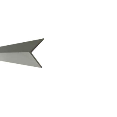 15 x 15 x 2 x 1000 mm 5000 Perfil de aluminio chapa reluciente