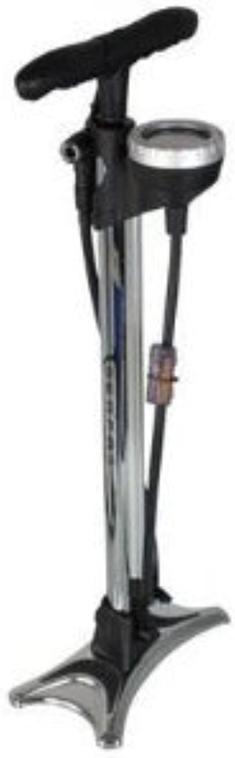 Serfas FP200 Floor Pump with Simple Valve, Chrome by Serfas