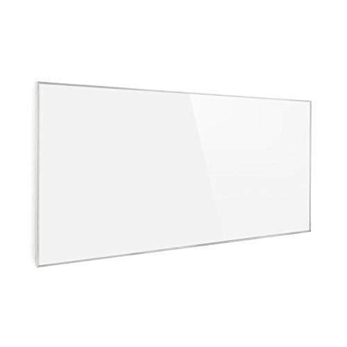 Klarstein Wonderwall - Calefactor bajo consumo panel, Panel radiante con tecnología cristal de carbono, Calefacción eléctrica bajo consumo programable, Autoapagado, 60 x 120 cm, 720 W, Blanco