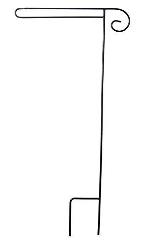 Briarwood Lane Wrought Iron Black Wrap Around Garden Flag Stand 38' H
