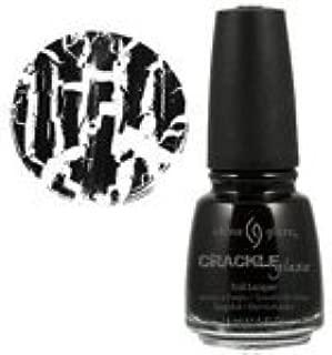 China Glaze Black Mesh Black Crackle Nail Polish .5oz