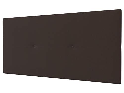 LA WEB DEL COLCHON - Cabecero Tapizado Génova para Cama de 105 (115 x 55 cms) Marron Claro Textil...