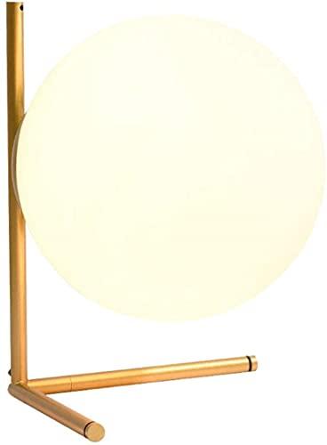 Lámpara de mesa de vidrio de globo de pelota Sombra moderna Simple Nordic para Dormitorio Lámpara de noche Dormitorio Personalidad creativa Macarrón