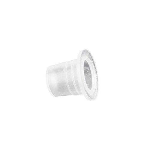 T TOOYFUL 250pc Petites Tasses De Pigments D'encre De Tatouage En Plastique Blanc Clair En Plastique Chapiteau Fournitures Fournitures