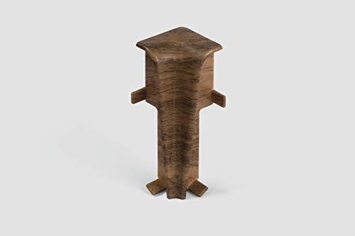 EGGER Innenecke Sockelleiste Nußbaum braun für einfache Montage von 60mm Laminat Fußleisten   Inhalt 2 Stück   Kunststoff robust   Holz Optik dunkel braun