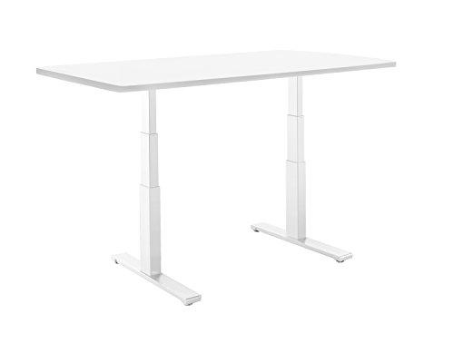 smartdesk Standing scrivania con elettrico Adjustble altezza 24'–50Bianco Telaio, colore: bianco misura tavolo classico 134,6x 76,2cm