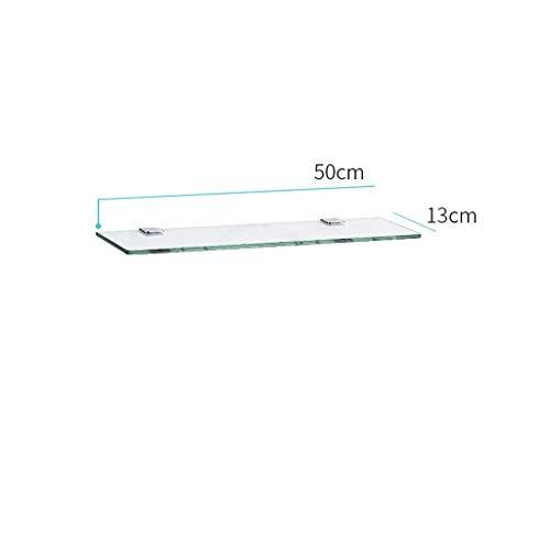 MYPNB Badezimmer Regal Wandregal for Badezimmer aus Glas, rechteckige Glasbadewanne for Kosmetika hergestellt