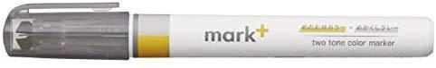 コクヨ 蛍光ペン 2トーンカラーマーカー マークタス グレータイプ イエロー/グレー PM-MT101YM 【× 2 本 】