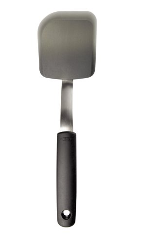 OXO 1147100 Good Grips Silicone Cookie Spatula, Gray,4 inches