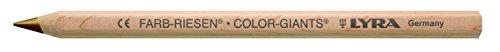 Lyra Farb-Riesen Étui en carton avec 12 crayons de couleur en bois naturel Marron métallique