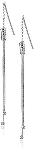 Sterling Silver Bead Threader Drop Earrings - http://coolthings.us
