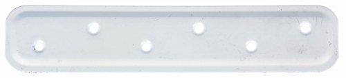 Preisvergleich Produktbild GAH-Alberts 340537 Flachverbinder,  geprägt - weiß kunststoffbeschichtet RAL 9010,  180 x 40 mm / 20 Stück