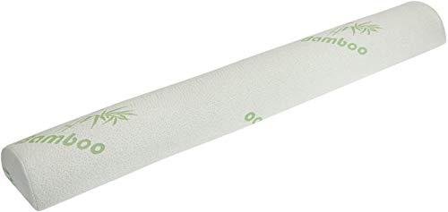 Tebery Protector de riel de cama para niños pequeños con almohadilla de almohada de bambú para dormir